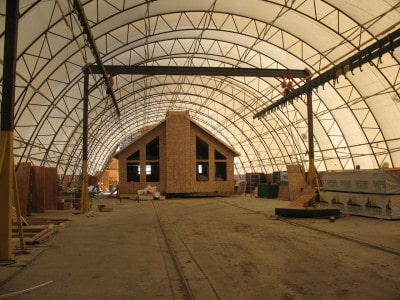 RTM Home being constructed in our indoor csa building facility