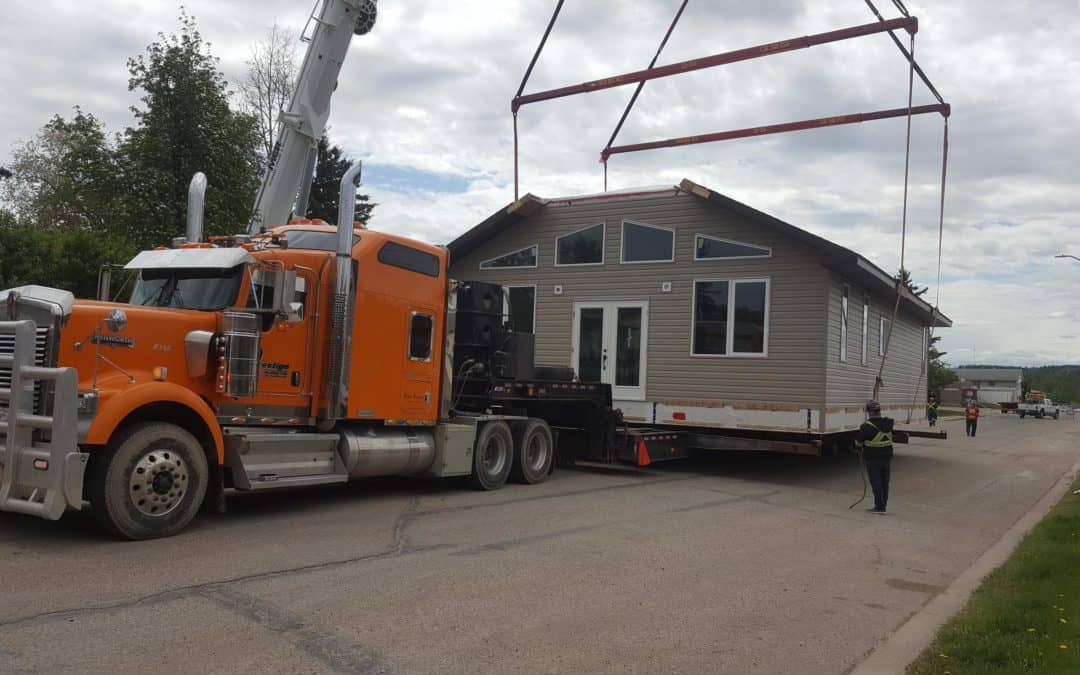 RTM Homes delivered in SK, AB, and BC.