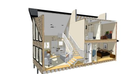 Cross section of a Custom Build Home