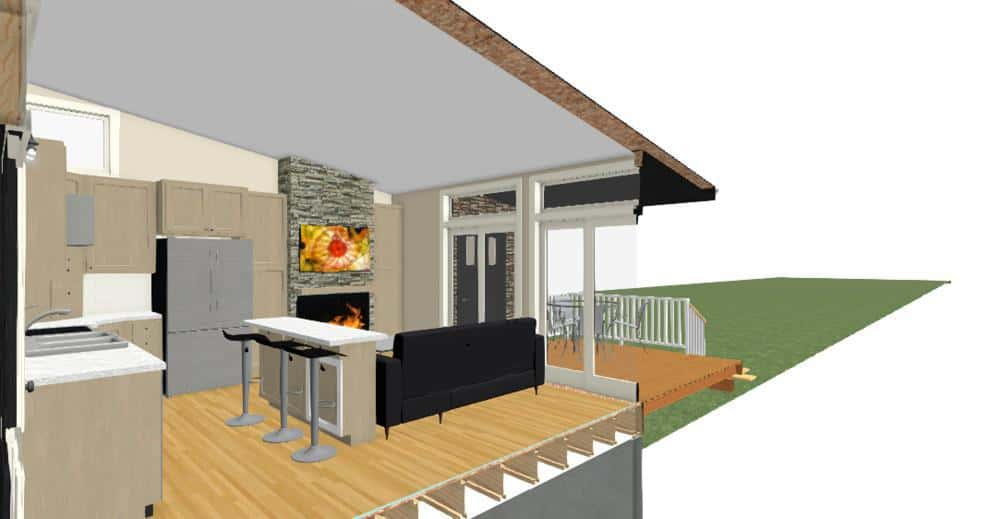 The Elkford here is one of the Tiny Home Plans we build in BC, AB, SK