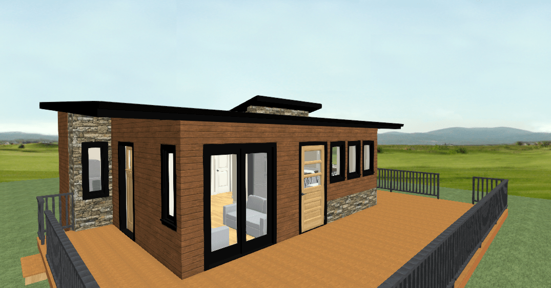 Front Exterior of this Small RTM Home Plan